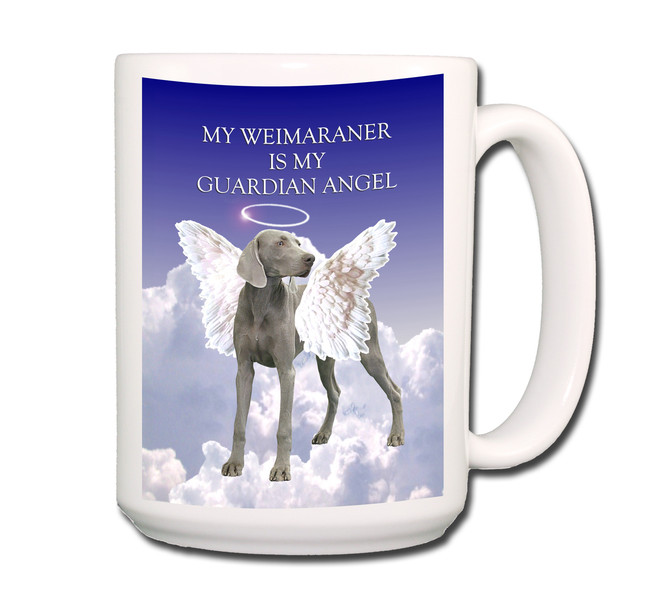 Weimaraner Guardian Angel Coffee Tea Mug 15 oz