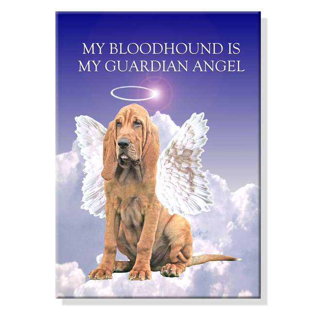 Bloodhound Guardian Angel Fridge Magnet