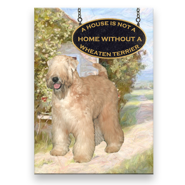 Wheaten Terrier a House is Not a Home Fridge Magnet No 2
