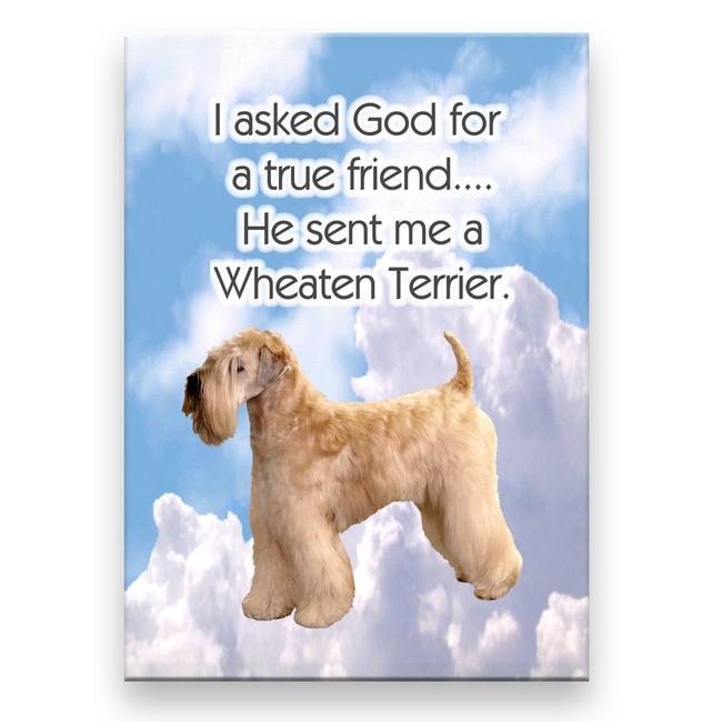 Wheaten Terrier True Friend Fridge Magnet No 1