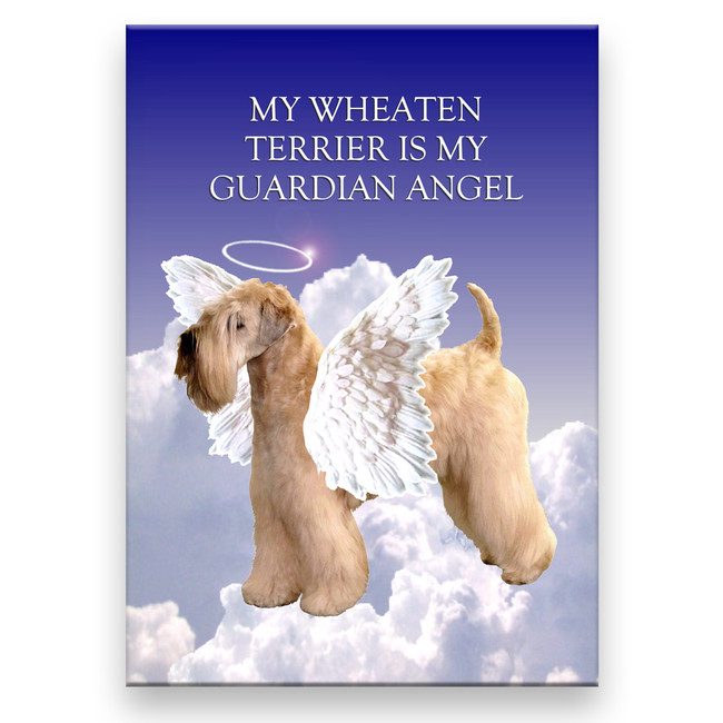 Wheaten Terrier Guardian Angel Fridge Magnet