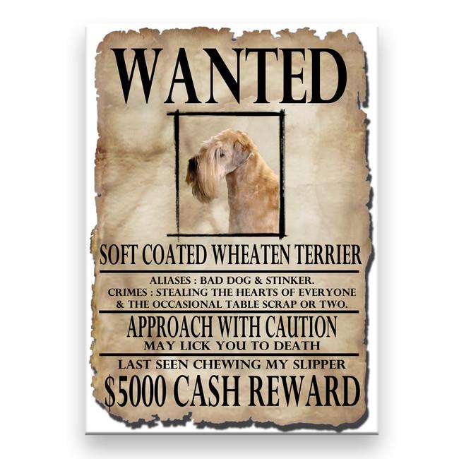 Wheaten Terrier Wanted Poster Fridge Magnet