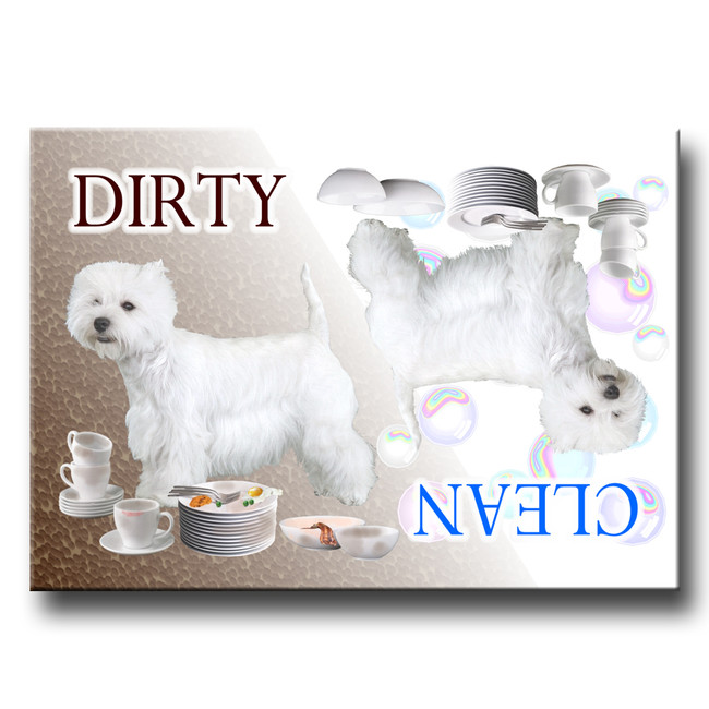 West Highland Terrier Clean Dirty Dishwasher Magnet