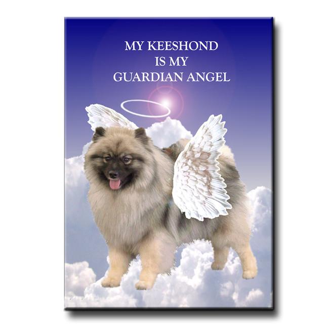 Keeshond Guardian Angel Fridge Magnet
