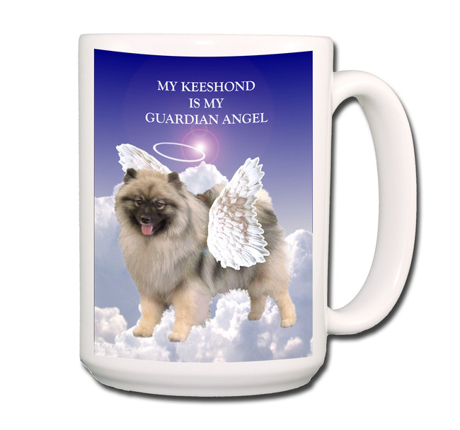 Keeshond Guardian Angel Coffee Tea Mug 15 oz