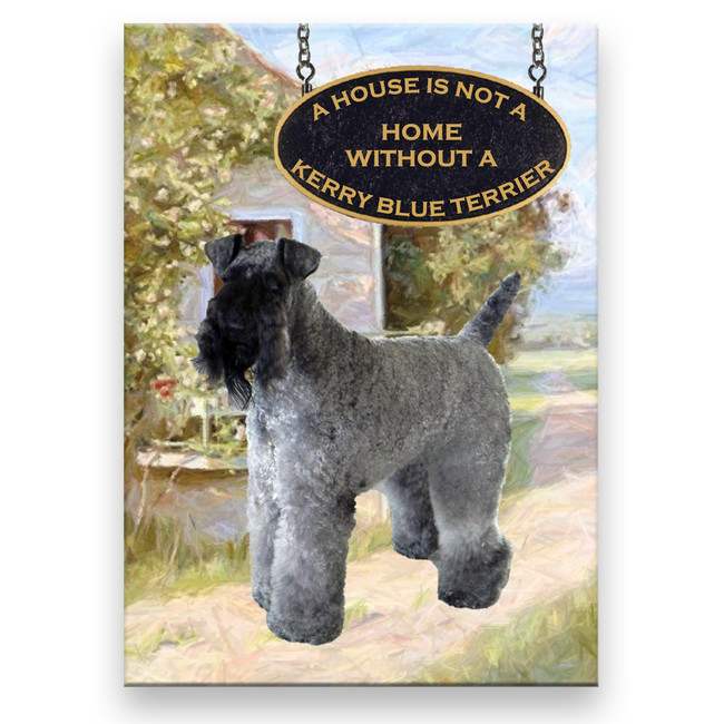 Kerry Blue Terrier a House is Not a Home Fridge Magnet