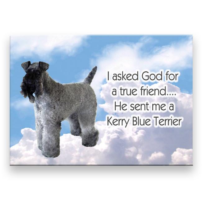 Kerry Blue Terrier True Friend Fridge Magnet