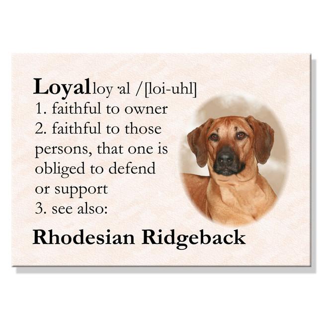 Rhodesian Ridgeback Dictionary Loyal Fridge Magnet