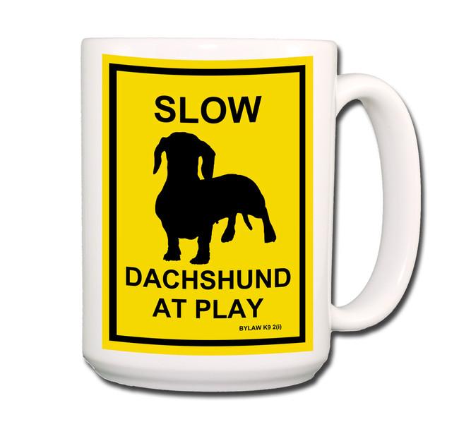 Dachshund Slow at Play Coffee Tea Mug 15oz