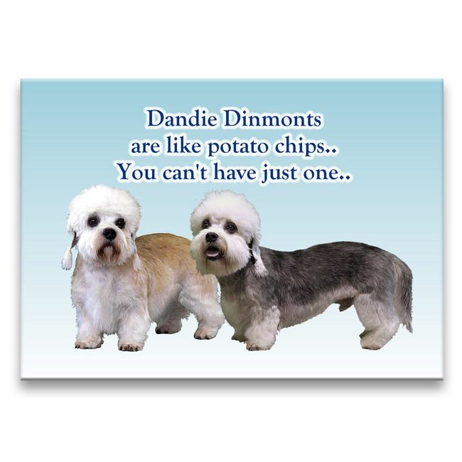 Dandie Dinmont Terrier Can't Have Just One Fridge Magnet