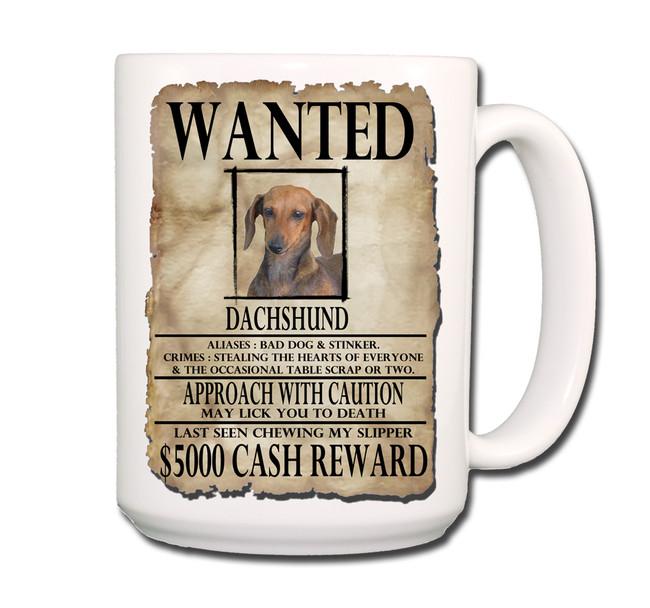 Dachshund Wanted Poster Coffee Tea Mug 15oz No 1