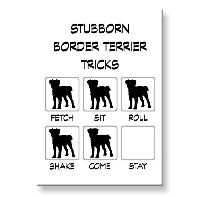 Border Terrier Stubborn Tricks Fridge Magnet