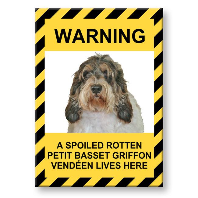 Petit Basset Griffon Vendeen Spoiled Rotten Fridge Magnet