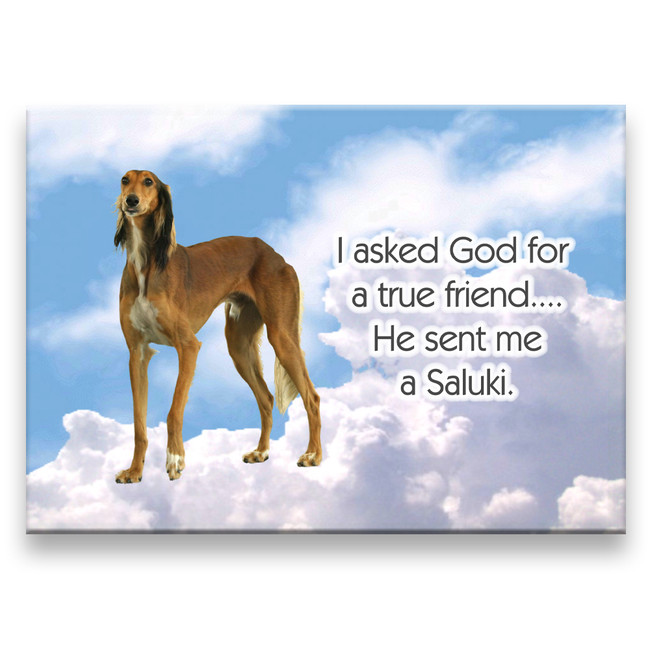 Saluki True Friend Fridge Magnet