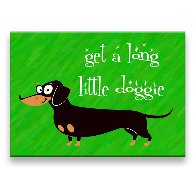 Dachshund Get a Long Little Doggie Fridge Magnet No 2