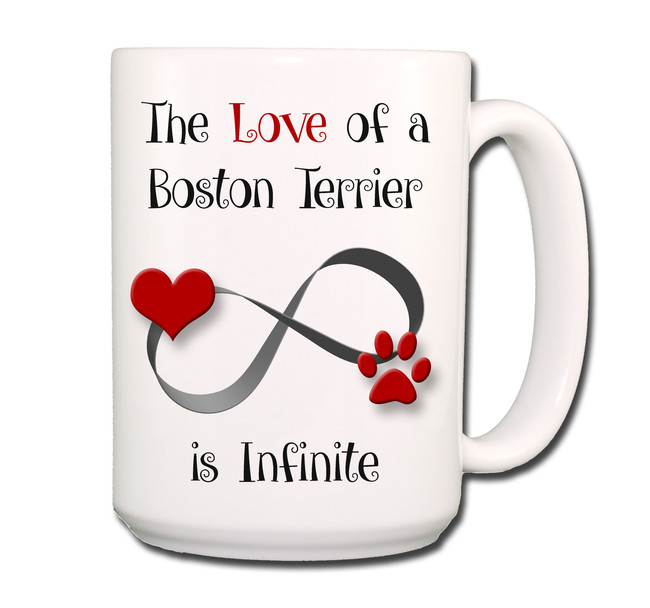 Boston Terrier Infinite Love Coffee Tea Mug 15 oz