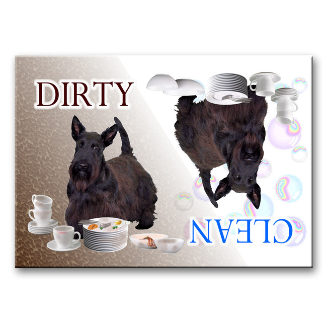 Scottish Terrier Clean Dirty Dishwasher Magnet