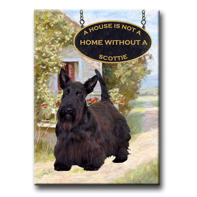 Scottish Terrier a House is Not a Home Fridge Magnet