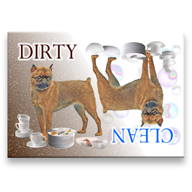 Brussels Griffon Clean Dirty Dishwasher Magnet No 1