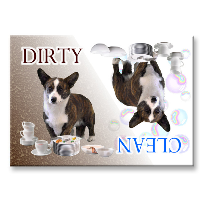 Cardigan Welsh Corgi Clean Dirty Dishwasher Magnet