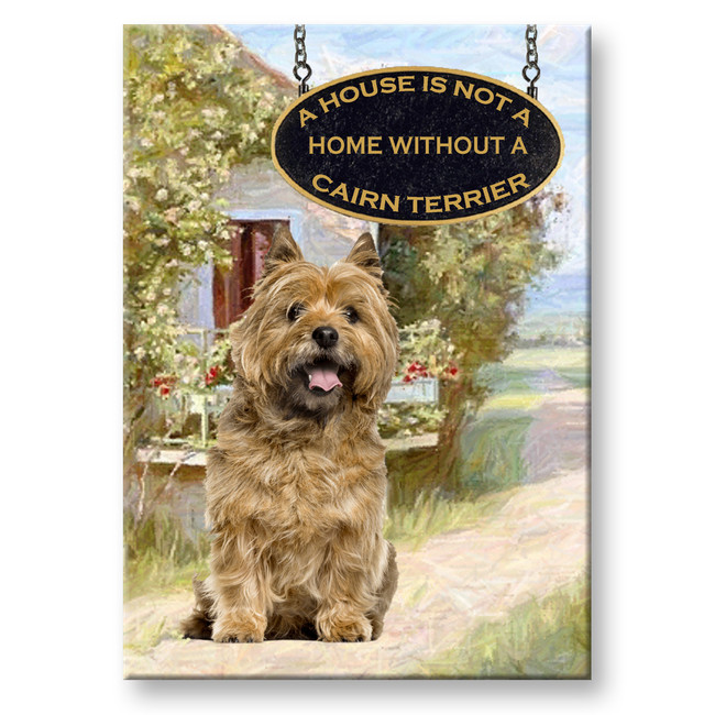 Cairn Terrier a House is Not a Home Fridge Magnet No 2