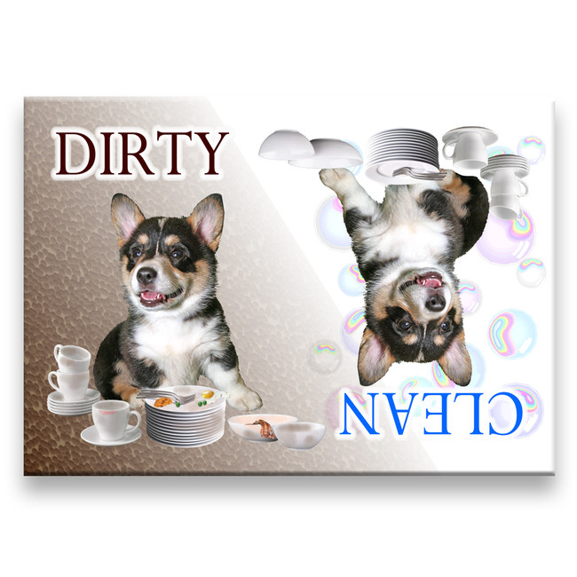 Pembroke Welsh Corgi Clean Dirty Dishwasher Magnet No 2