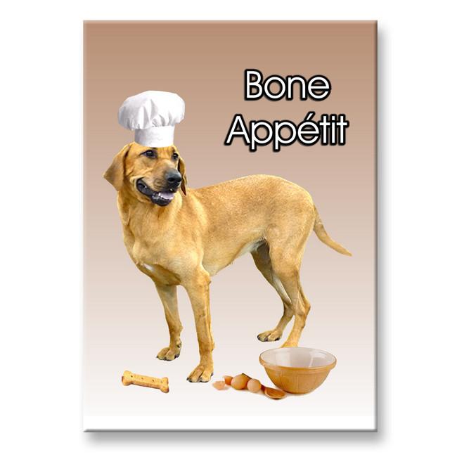 Danish Broholmer Chef Bone Appetit Fridge Magnet