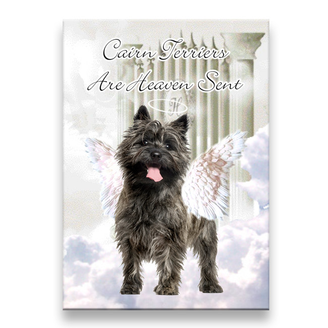 Cairn Terrier Heaven Sent Fridge Magnet No 1