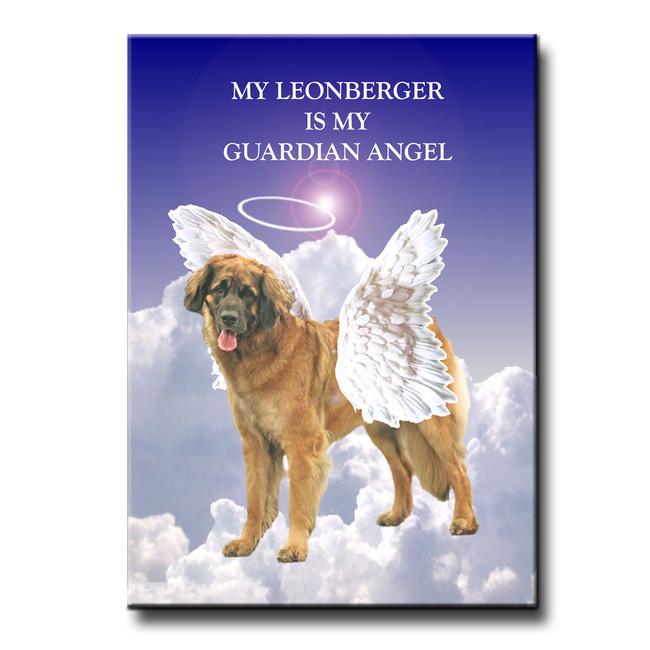 Leonberger Guardian Angel Fridge Magnet