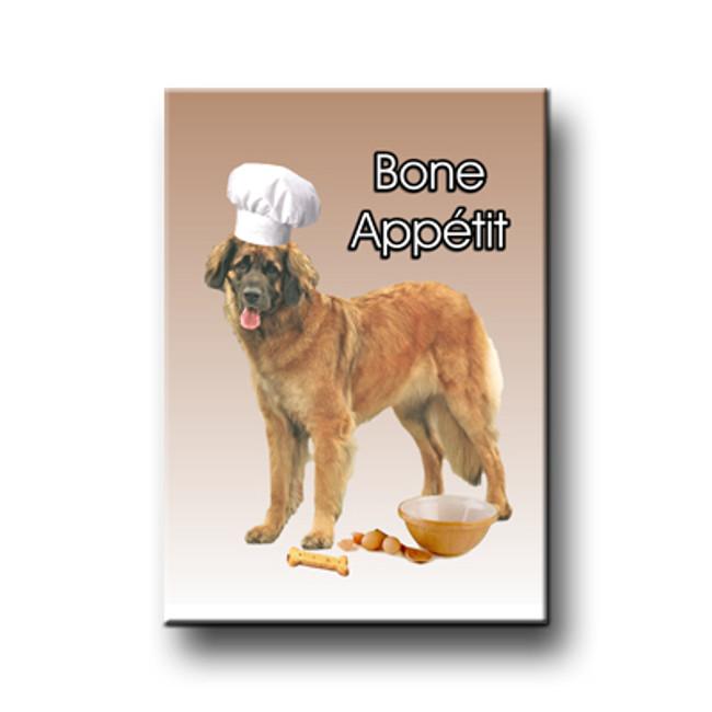 Leonberger Chef Bone Appetit Fridge Magnet