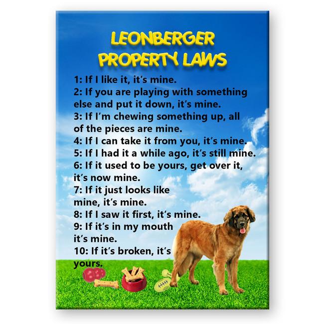 Leonberger Property Laws Fridge Magnet