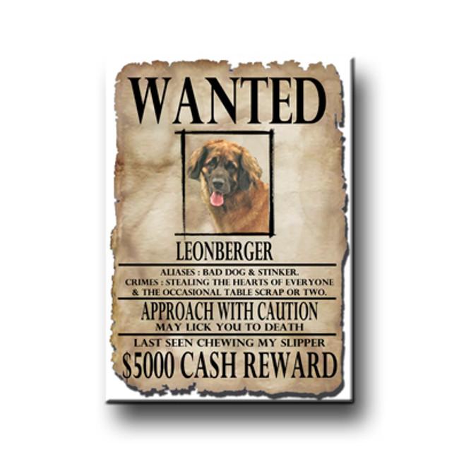 Leonberger Wanted Poster Fridge Magnet