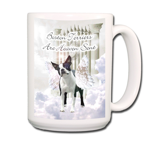 Boston Terrier Heaven Sent Coffee Tea Mug 15oz