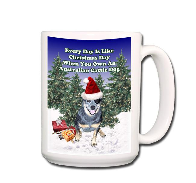 Australian Cattle Dog Christmas Holidays Coffee Tea Mug 15oz