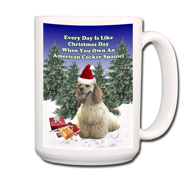 American Cocker Spaniel Christmas Holidays Coffee Tea Mug 15oz No 1