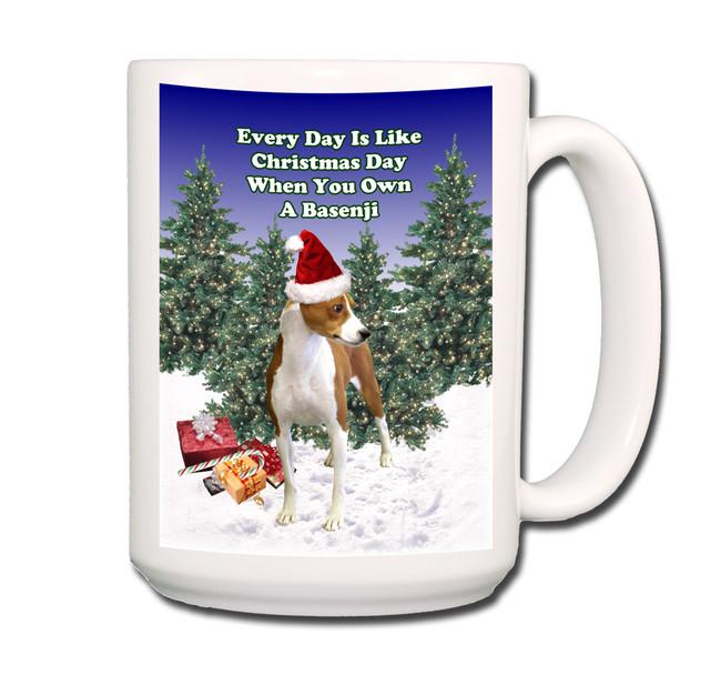 Basenji Christmas Holidays Coffee Tea Mug 15oz No 1