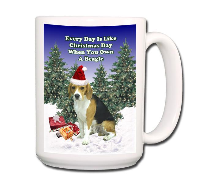 Beagle Christmas Holidays Coffee Tea Mug 15oz No 1