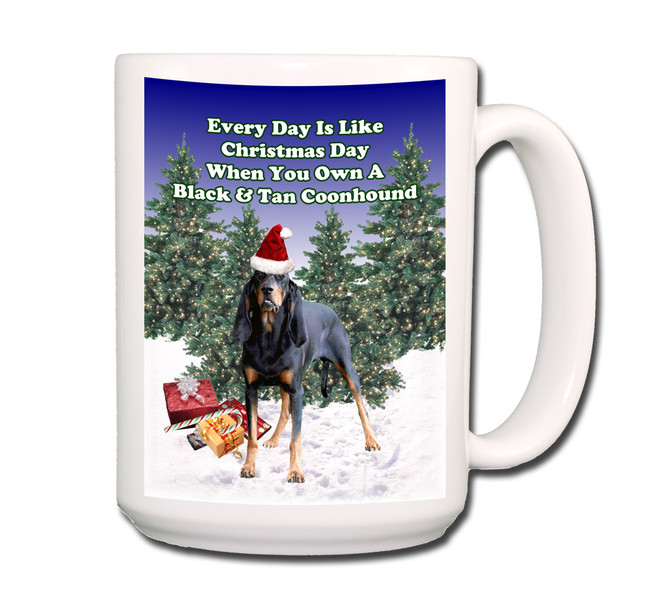 Black & Tan Coonhound Christmas Holidays Coffee Tea Mug 15oz