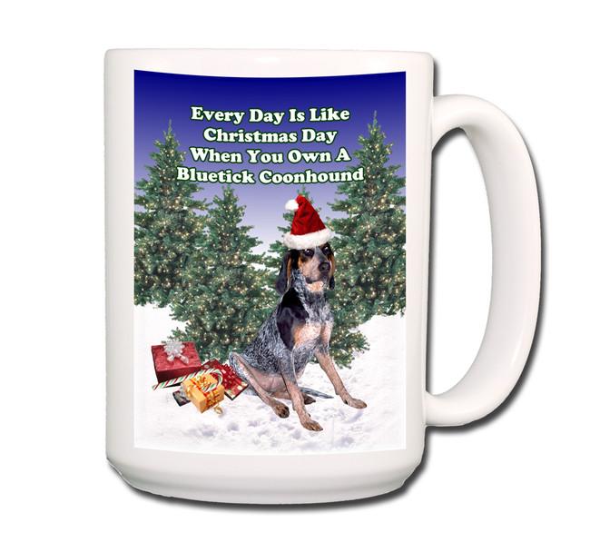Bluetick Coonhound Christmas Holidays Coffee Tea Mug 15oz