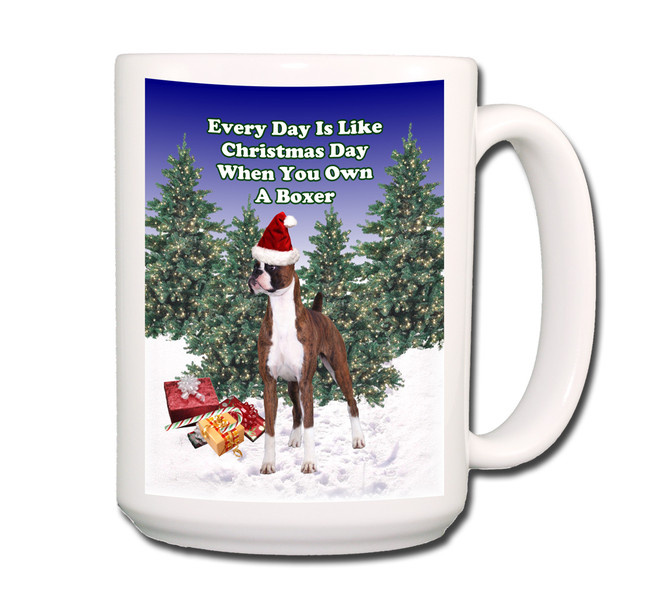 Boxer Christmas Holidays Coffee Tea Mug 15oz