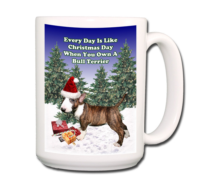 Bull Terrier Christmas Holidays Coffee Tea Mug 15oz No 2