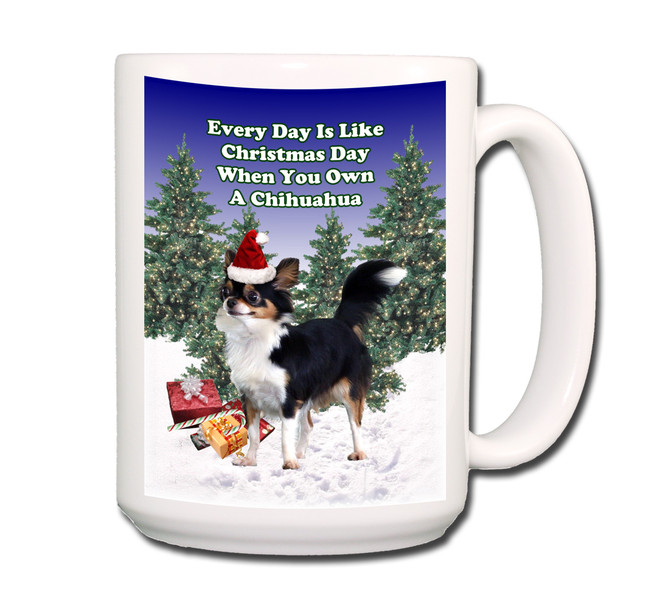 Chihuahua Christmas Holidays Coffee Tea Mug 15oz No 2