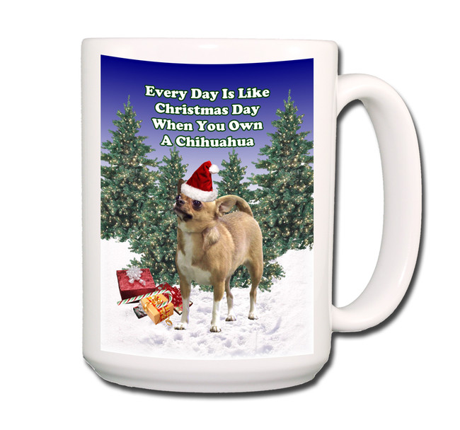 Chihuahua Christmas Holidays Coffee Tea Mug 15oz No 1