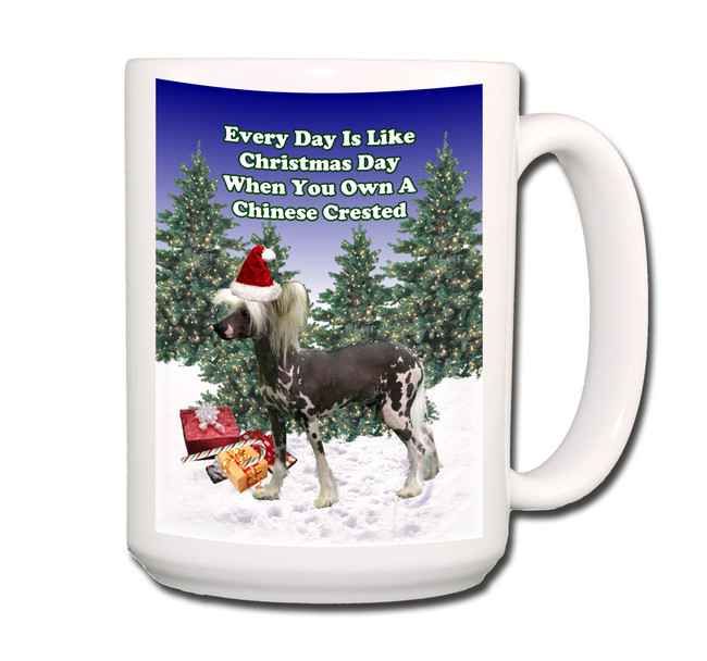 Chinese Crested Christmas Holidays Coffee Tea Mug 15oz