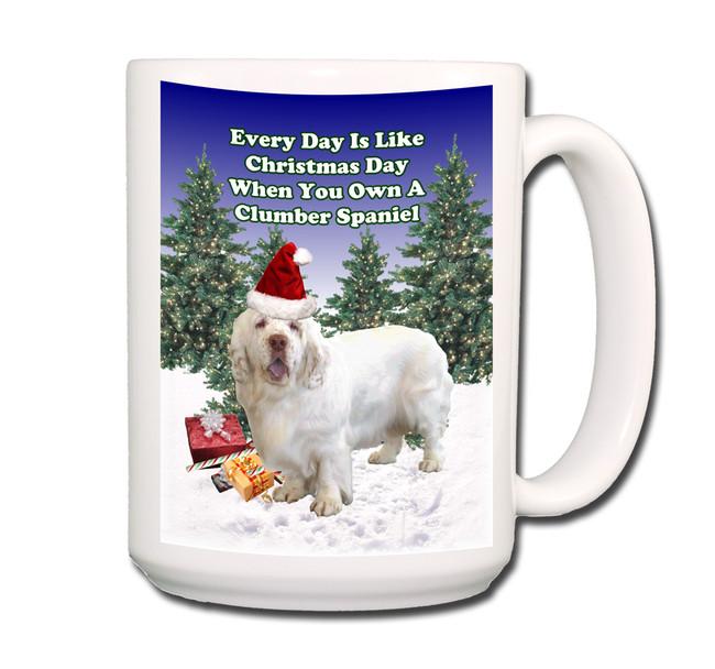 Clumber Spaniel Christmas Holidays Coffee Tea Mug 15oz