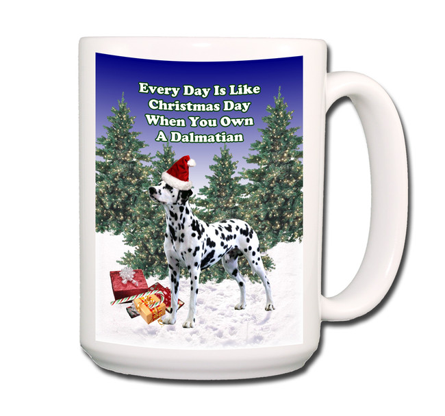 Dalmatian Christmas Holidays Coffee Tea Mug 15oz