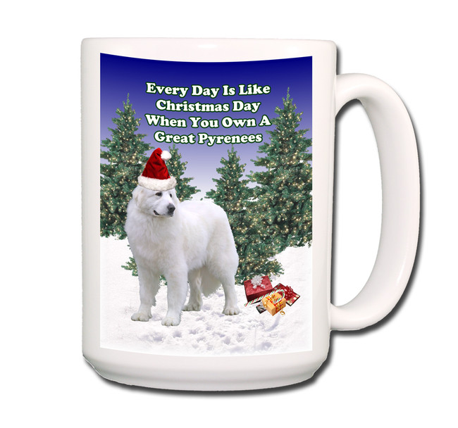 Great Pyrenees Christmas Holidays Coffee Tea Mug 15oz