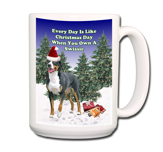 Greater Swiss Mountain Dog Christmas Holidays Coffee Tea Mug 15oz