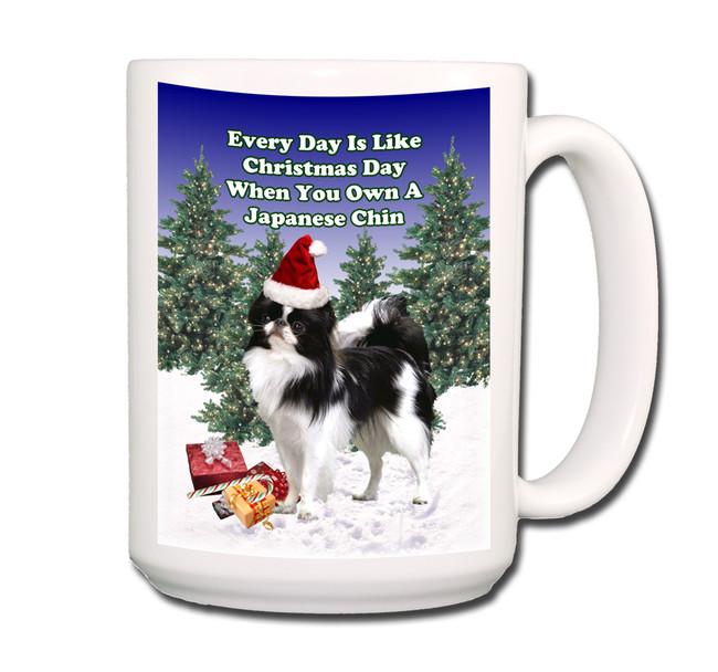 Japanese Chin Christmas Holidays Coffee Tea Mug 15oz