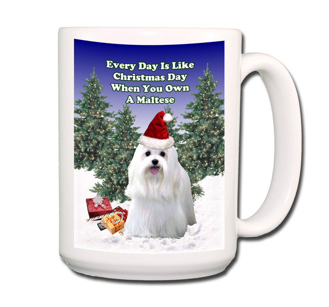 Maltese Christmas Holidays Coffee Tea Mug 15oz